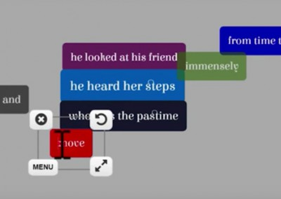 Brainstorming lyrics of a song through guided randomness